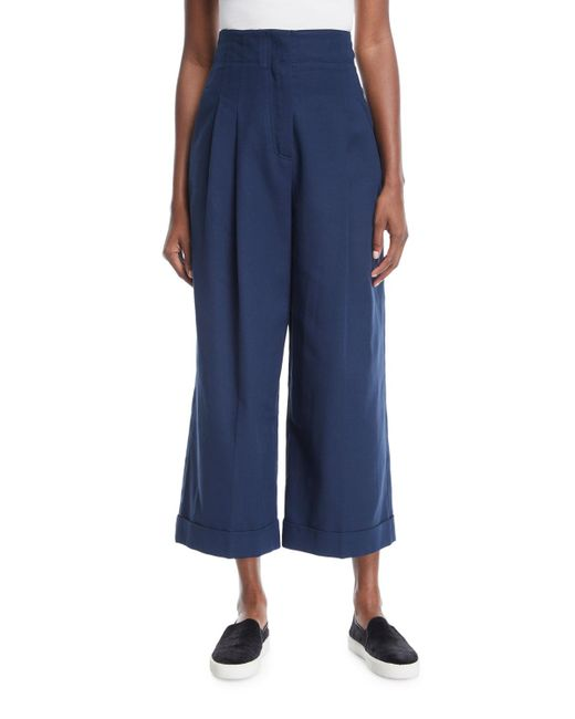Loro Piana | Blue Kilian Cropped Wide-leg Pants | Lyst