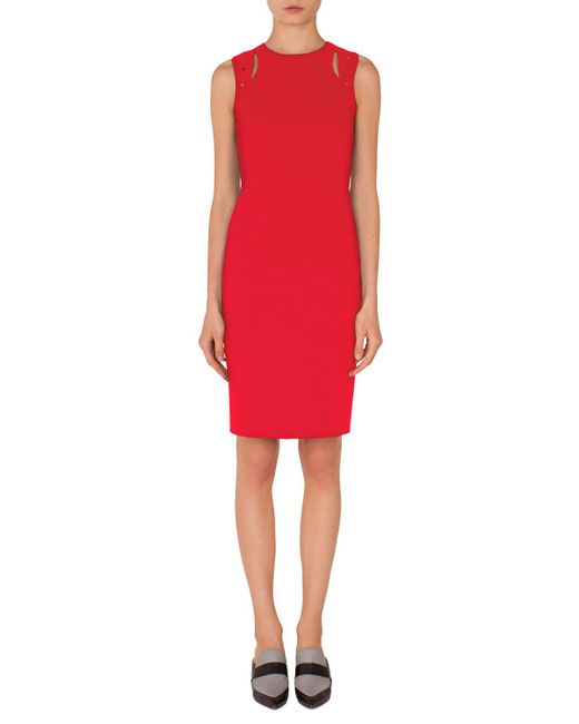 Akris Punto - Red Tricotine Shift Dress - Lyst