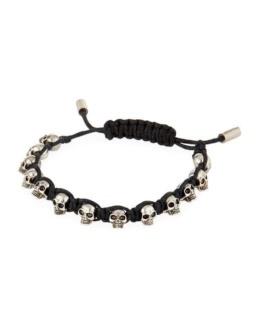 Alexander McQueen - Black Men's Skull Bead Friendship Bracelet for Men - Lyst