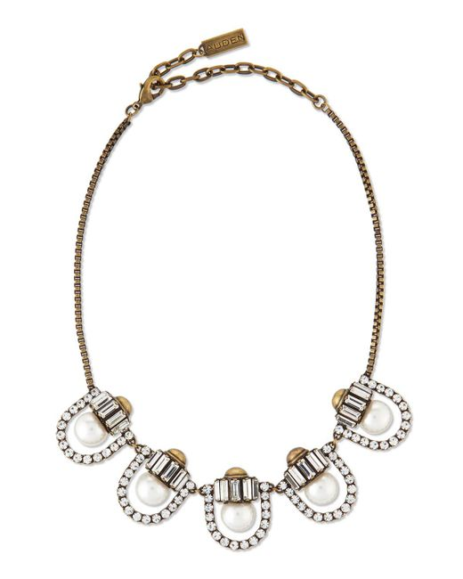 Auden - Metallic Lana Crystal-pearl-station Necklace - Lyst