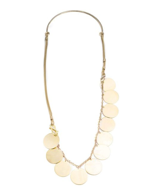 Eddie Borgo - Metallic Golden Coin Necklace - Lyst
