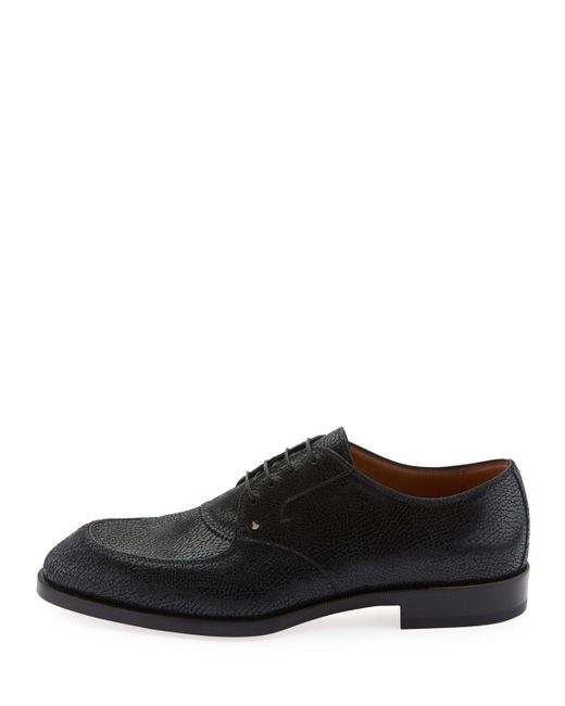 low priced eccb3 ea224 Black Men's Thomas Iii Textured Leather Lace-up Shoes