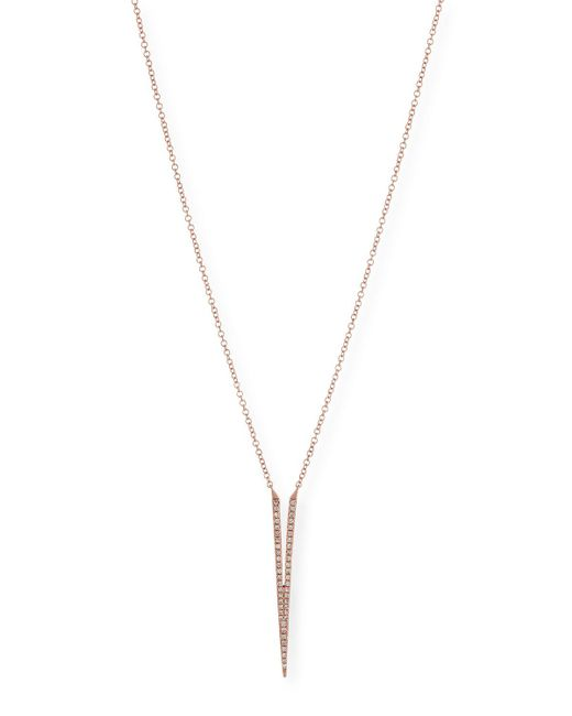 EF Collection | Pink Split Dagger Diamond Pendant Necklace | Lyst