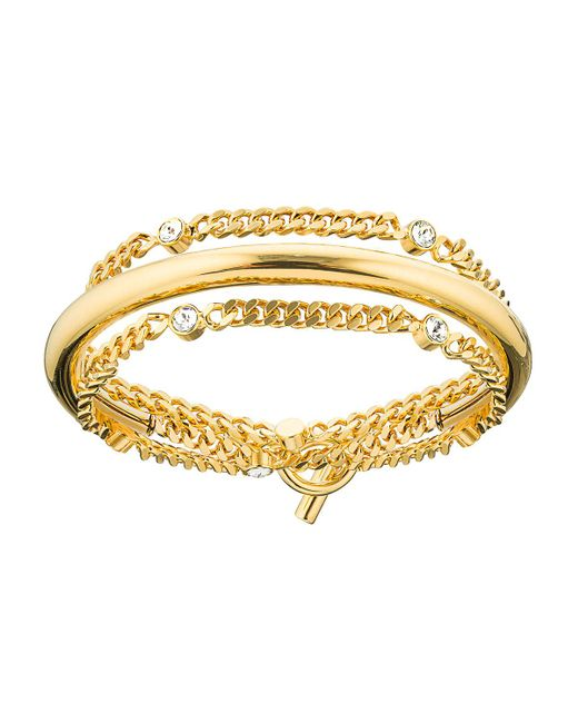 Vita Fede | Metallic Luna Crystal Chain Wrap Bracelet | Lyst