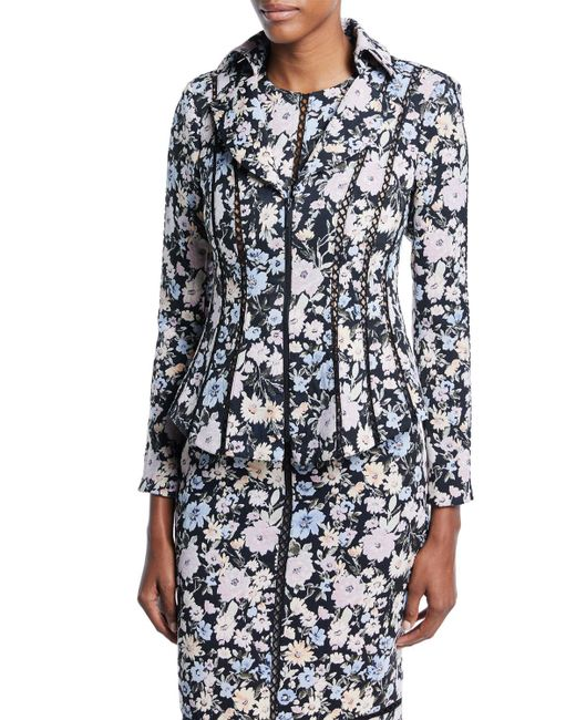 Nanette Lepore - Black Playwright Fitted Zip-up Jacket - Lyst
