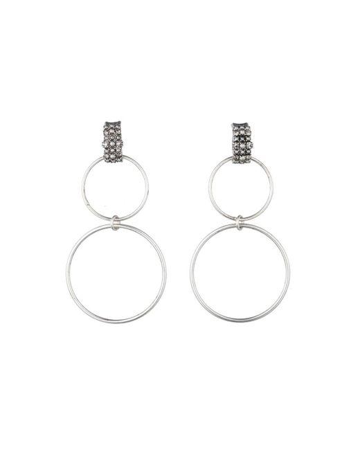 DANNIJO | Metallic Dido Circle Statement Earrings | Lyst