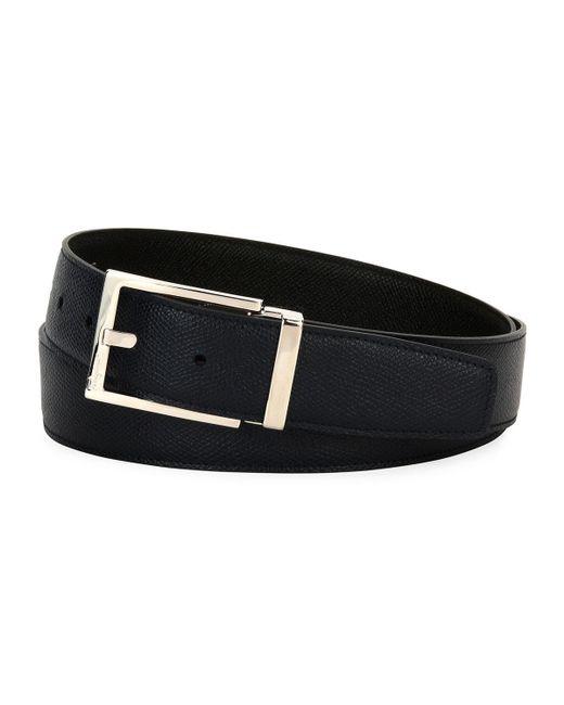 Ferragamo - Blue Men's Square-buckle Reversible Leather Belt for Men - Lyst