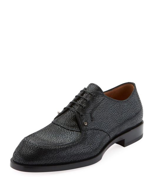 dd642ea7244c Christian Louboutin - Black Men s Thomas Iii Textured Leather Lace-up Shoes  for Men ...