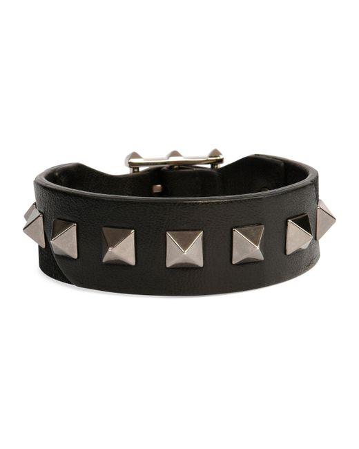 Valentino - Black Men's Rockstud Camo Leather Bracelet for Men - Lyst