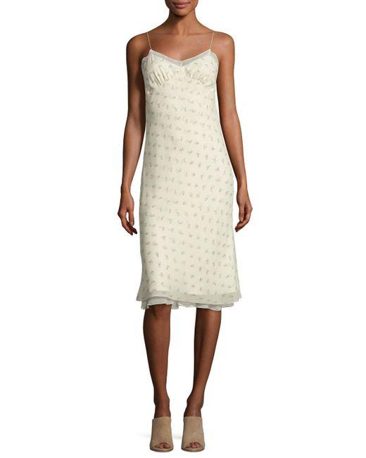 The Row | Natural Santi Floral-print Silk Slip Dress | Lyst
