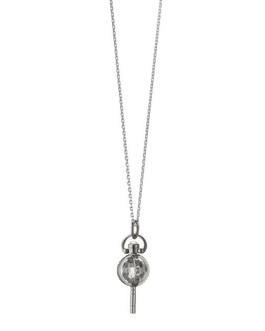 Monica Rich Kosann - Metallic Mini Silver Carpe Diem Pendant Necklace - Lyst