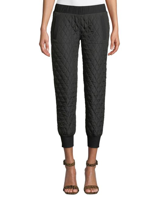 Norma Kamali - Black Quilted Pull-on Jogger Pants - Lyst