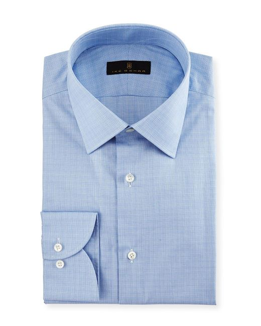 Ike Behar | Blue Gold Label Micro-glen Plaid Dress Shirt for Men | Lyst