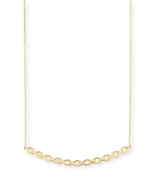 Sydney Evan | Multicolor Diamond Evil Eye Bar Pendant Necklace | Lyst