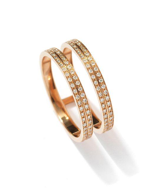 Repossi - Metallic Berbère Two-row Diamond Ring In 18k Rose Gold - Lyst