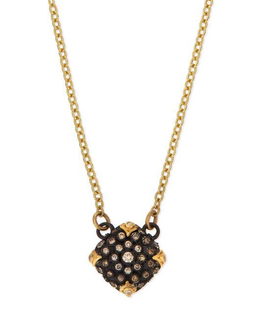Armenta - Multicolor Old World Midnight Pavé Diamond Cushion Necklace - Lyst