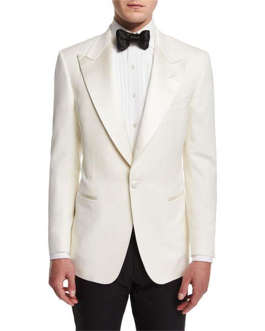 Tom Ford - White Windsor Base Dinner Jacket for Men - Lyst