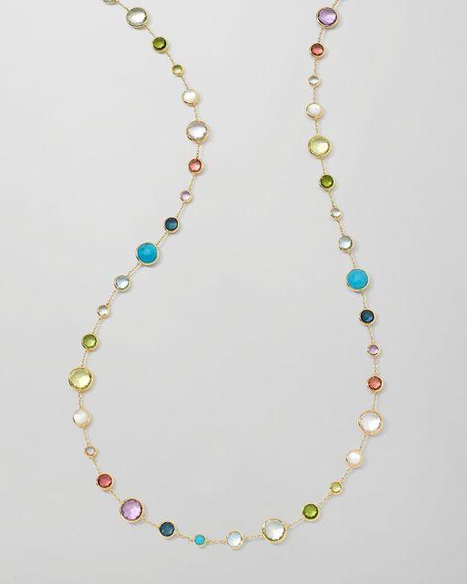 Ippolita Metallic 18k Gold Rock Candy Lollitini Necklace In Multi