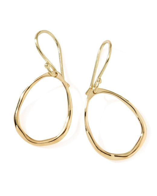 Ippolita - Metallic 18k Gold Mini Squiggle Open Teardrop Earrings - Lyst