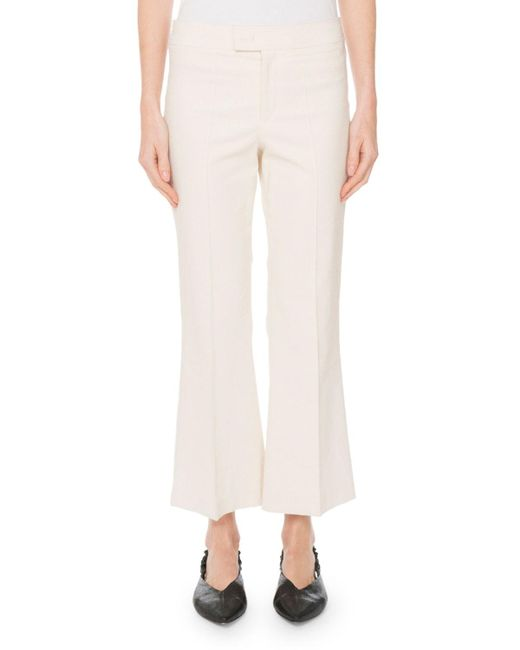 Isabel Marant - Multicolor Mid-rise Flared Stretch-cotton Cropped Pants - Lyst