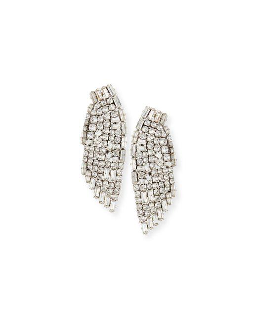 Saint Laurent | Metallic Cascading Crystal Smoking Earrings | Lyst
