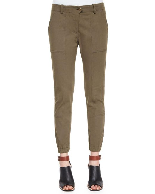 Veronica Beard - Green Field Cargo Ankle Pants - Lyst