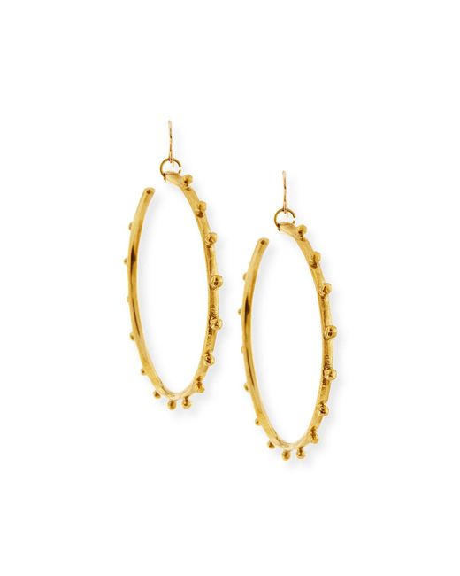 Ashley Pittman - Metallic Teli Studded Bronze Hoop Earrings - Lyst