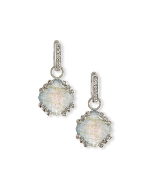 Jude Frances | White Labradorite & Blue Topaz Earring Charms With Diamonds | Lyst