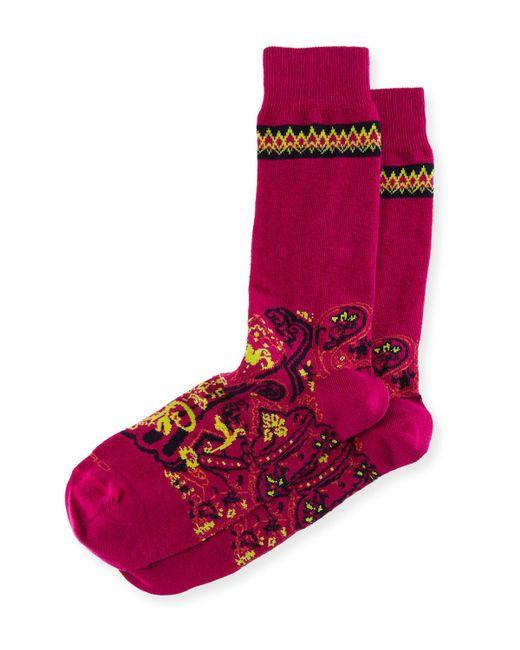 Etro   Purple Short Paisley Socks for Men   Lyst