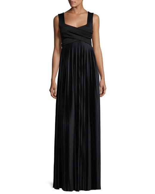 The Row - Black Alain Pleated Sleeveless Gown - Lyst