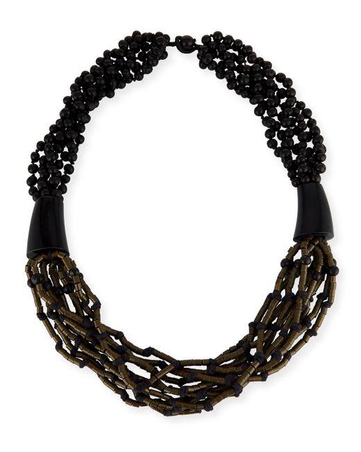Eskandar - Black Multi-strand Beaded Acai Necklace - Lyst