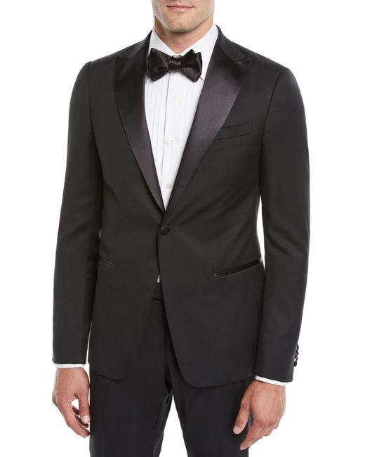 Z Zegna Black Men's Satin-lapel Tuxedo Suit for men