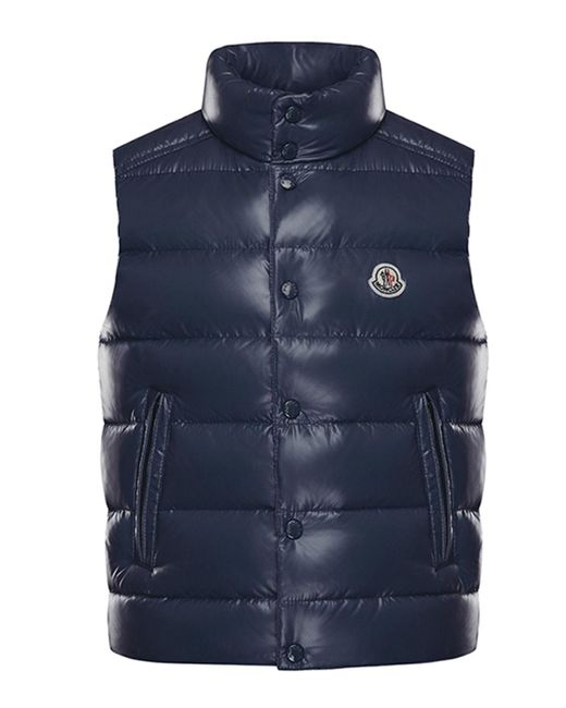 Moncler Blue Tib Quilted Puffer Vest for men