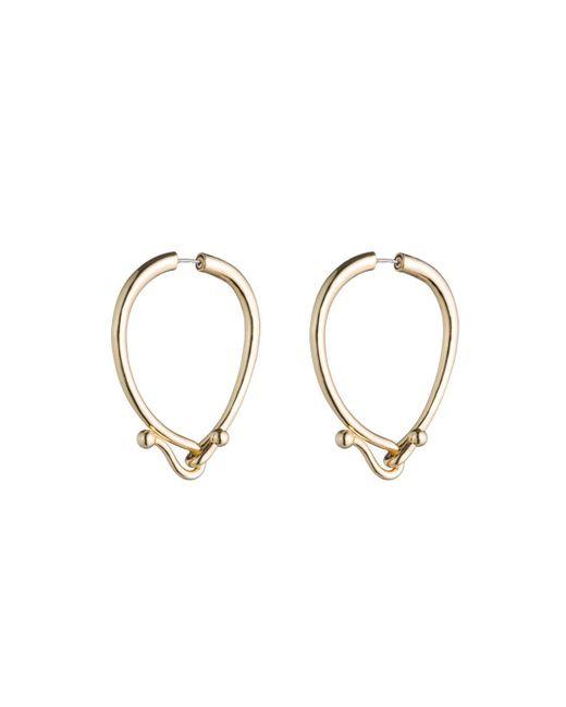Eddie Borgo | Metallic Thalia Hook Hoop Earrings | Lyst