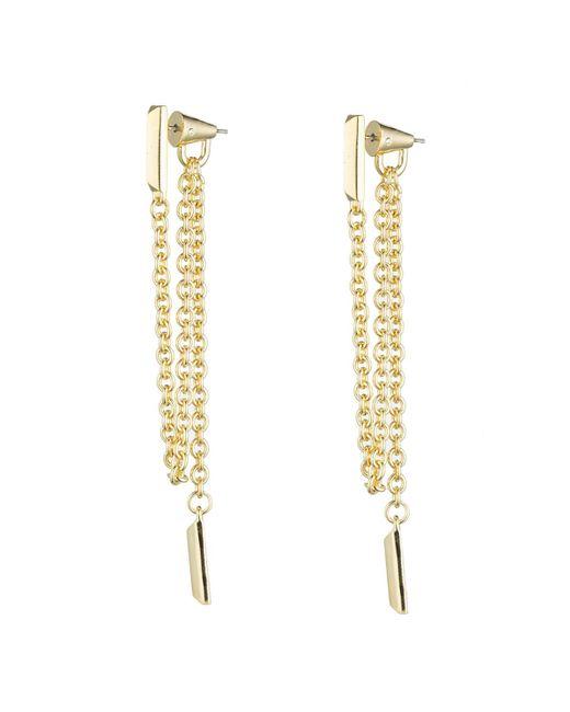 Eddie Borgo   Metallic Draped Chain Bar Earrings   Lyst