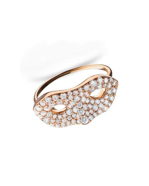 "Monica Rich Kosann - Metallic Unmasked"" Diamond Rose Gold Ring - Lyst"