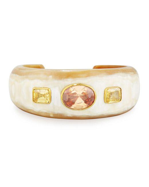 Ashley Pittman - Metallic Uhuni Light Horn & Crystal Cuff Bracelet - Lyst