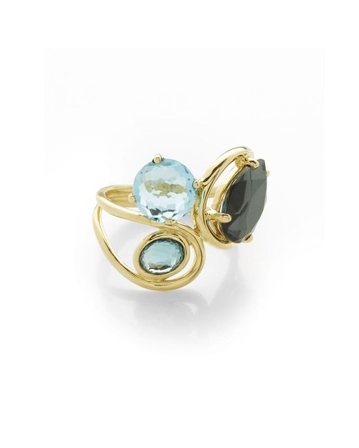 Ippolita | Blue 18k Rock Candy Squiggle Ring In Midnight Rain | Lyst