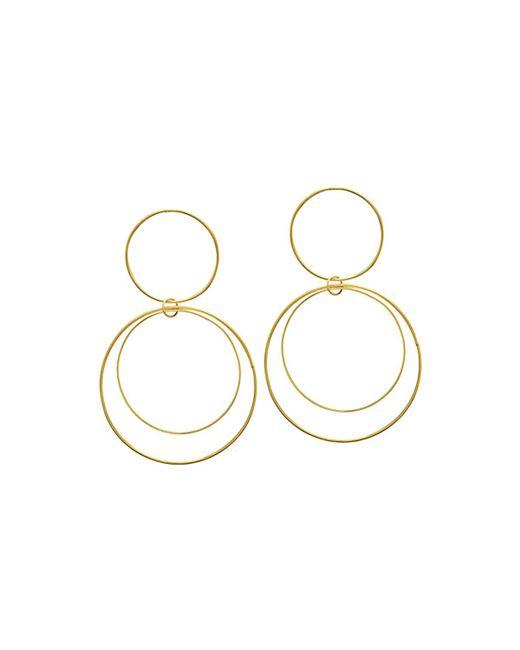 Lana Jewelry | Metallic Two-tiered 14k Gold Flat Circle Earrings | Lyst