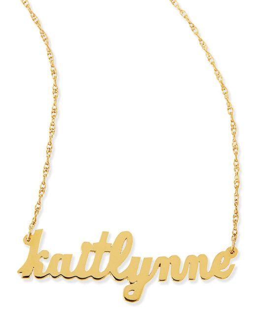 Jennifer Zeuner - Metallic Serafina Personalized Mini Nameplate Necklace - Lyst