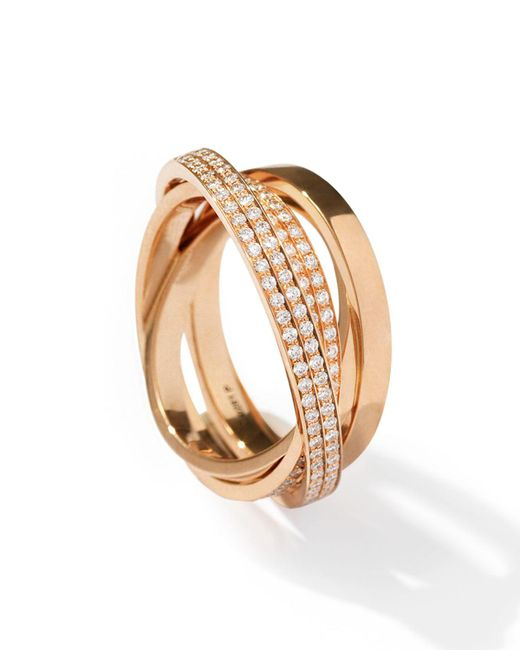 Repossi - Metallic Technical Berbère Diamond Ring In 18k Rose Gold - Lyst