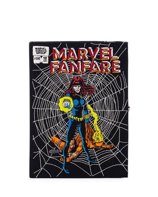Olympia Le-Tan - Black Marvel® Fanfare Comic Book Clutch Bag - Lyst