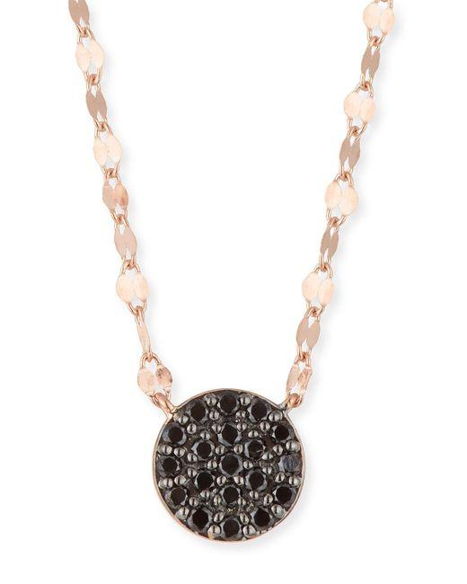 Lana Jewelry Metallic 14k Reckless Black Diamond Pavé Pendant Necklace