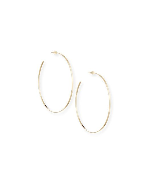 Lana Jewelry Metallic 14k Gold Mega Hoop Earrings