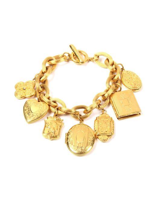 Ben-Amun - Metallic Royal Locket Charm Bracelet - Lyst