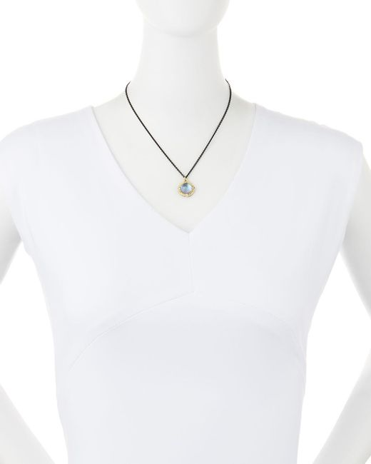 Armenta | Blue Triplet Enhancer With Chain Necklace | Lyst