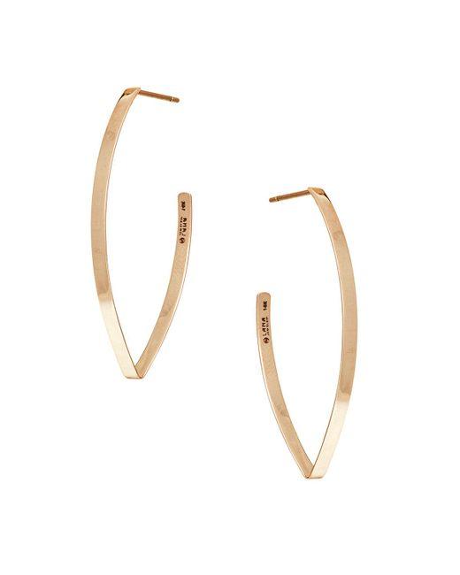 Lana Jewelry - Metallic Small Flat Blake Hoop Earrings - Lyst