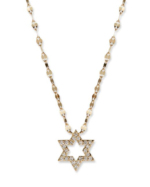 Lana Jewelry - Metallic Flawless 14k Diamond Star Of David Necklace - Lyst