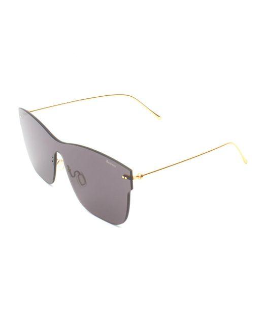 Illesteva - Gray Square Rimless Steel Sunglasses for Men - Lyst