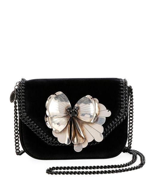 Stella McCartney - Black Mini Falabella Butterfly Box Shoulder Bag - Lyst